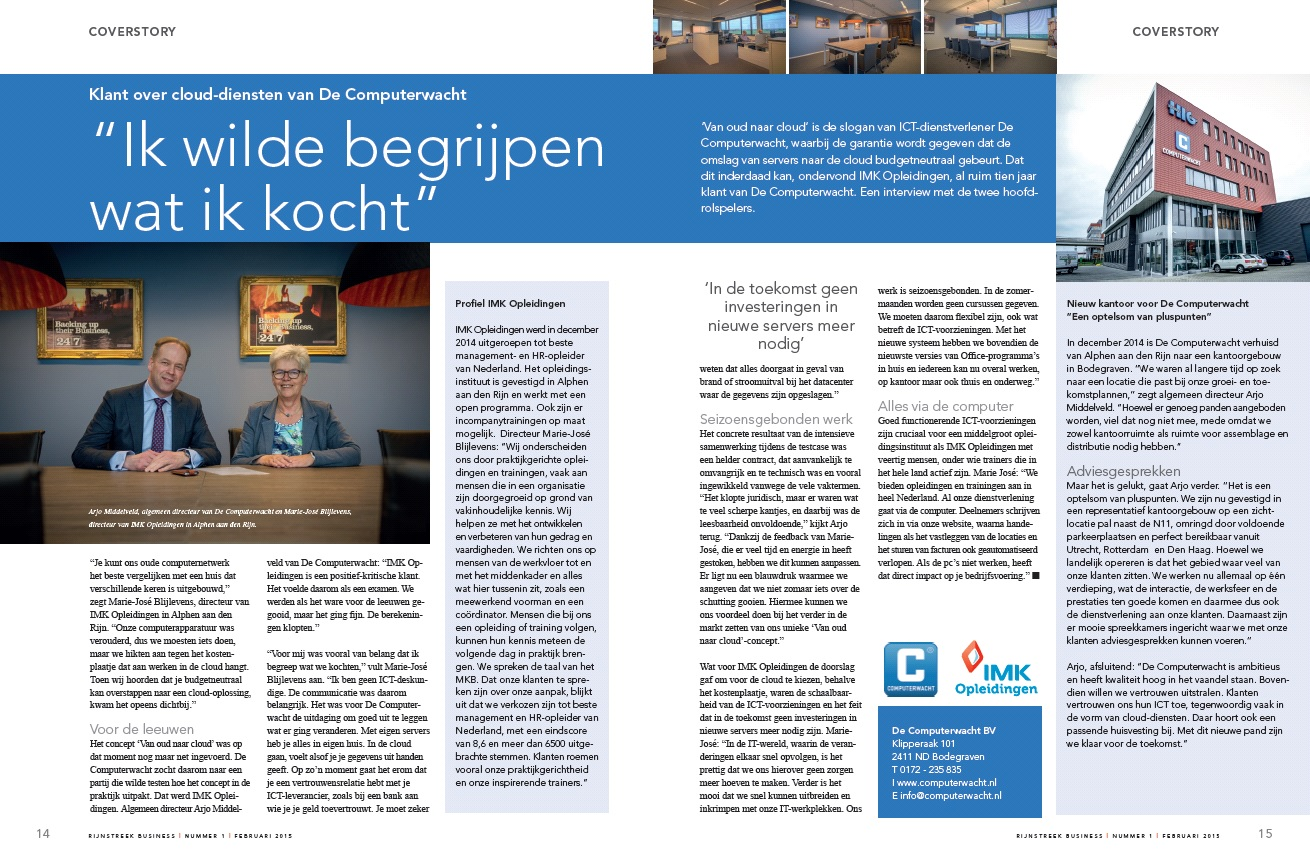 Rijnstreek Business artikel februari 2015