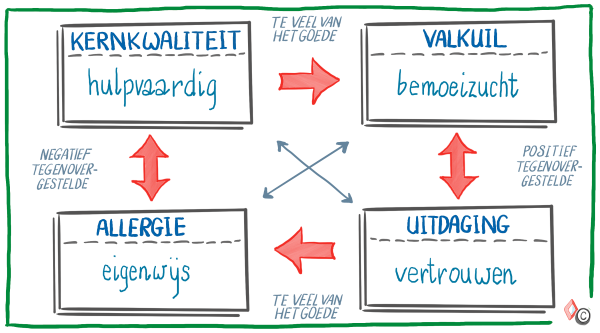 Model Kernkwadrant - voorbeeld 1 - IMK Opleidingen