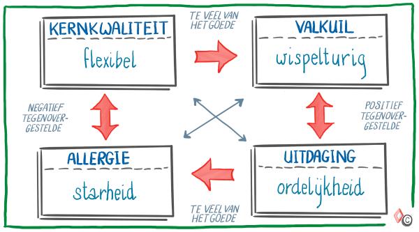 Model Kernkwadrant - voorbeeld 2 - IMK Opleidingen